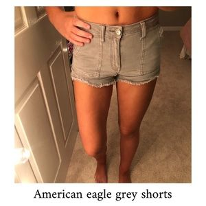 American eagle grey shorts